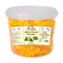 Bonbon With Lemon Flavour - Plastic Bucket - 5000 GR.