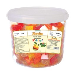 Bonbon With Mixed Flavour - Plastic Bucket - 5000 GR.